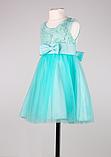 Детское  нарядное платье мятного цвета, фото 3