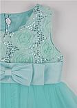 Детское  нарядное платье мятного цвета, фото 4