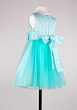 Детское  нарядное платье мятного цвета, фото 6