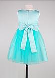Детское  нарядное платье мятного цвета, фото 7
