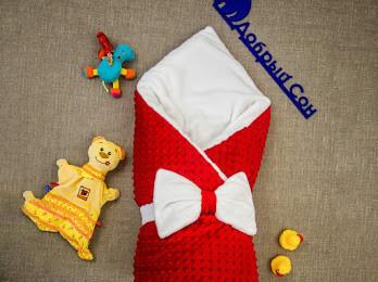 Теплый  конверт- одеяло для девочек 100х80 см