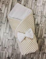 Конверт одеяло для новорожденных 100х80 см, зима, фото 1
