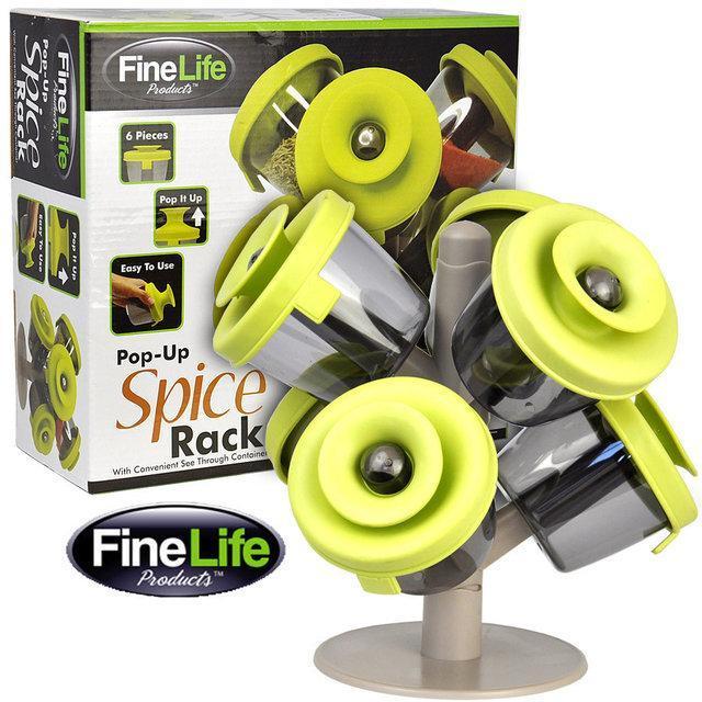 Набор для хранения специй и трав Spice Rack с силиконовыми крышечками 6 шт