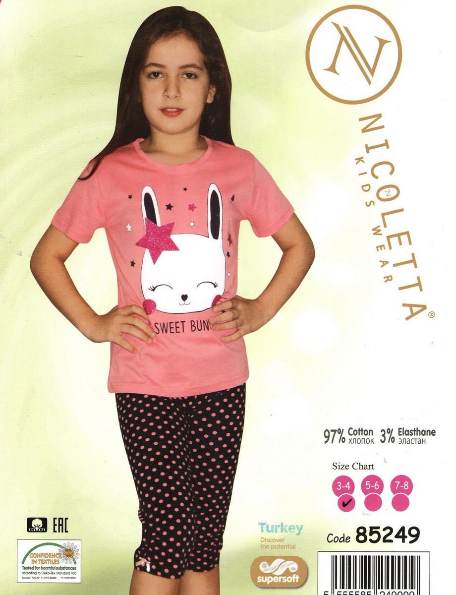 Красивая пижама для девочки   с зайчиком