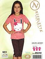 Красивая пижама для девочки   с зайчиком, фото 1