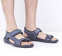 Кожаные синие сандалии (лето), 45 размер, код UT78532