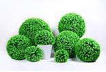 Искусственный шар самшит салатовый  34 см, фото 3