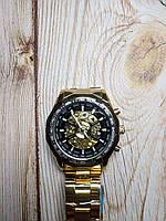 Часы с автоподзаводом Winner Skeleton, Золотые, фото 1