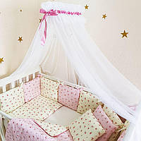 Комплект в кроватку (бортики - подушки) Baby Design прованс ПРЕМИУМ (натуральный наполнитель - ekotton), фото 1
