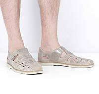 Кожаные светло-коричневые сандалии (лето), 41 размер, код UT78581