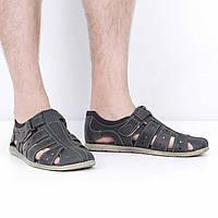 Кожаные черные сандалии (лето), 41 размер, код UT78588