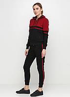 Женские спортивный костюм Go Fitness черного и красного цвета (люкс копия)
