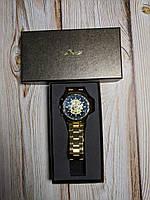 Часы механические Winner Skeleton Gold 2, фото 1