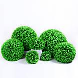 Искусственный шар самшит салатовый  54 см, фото 3