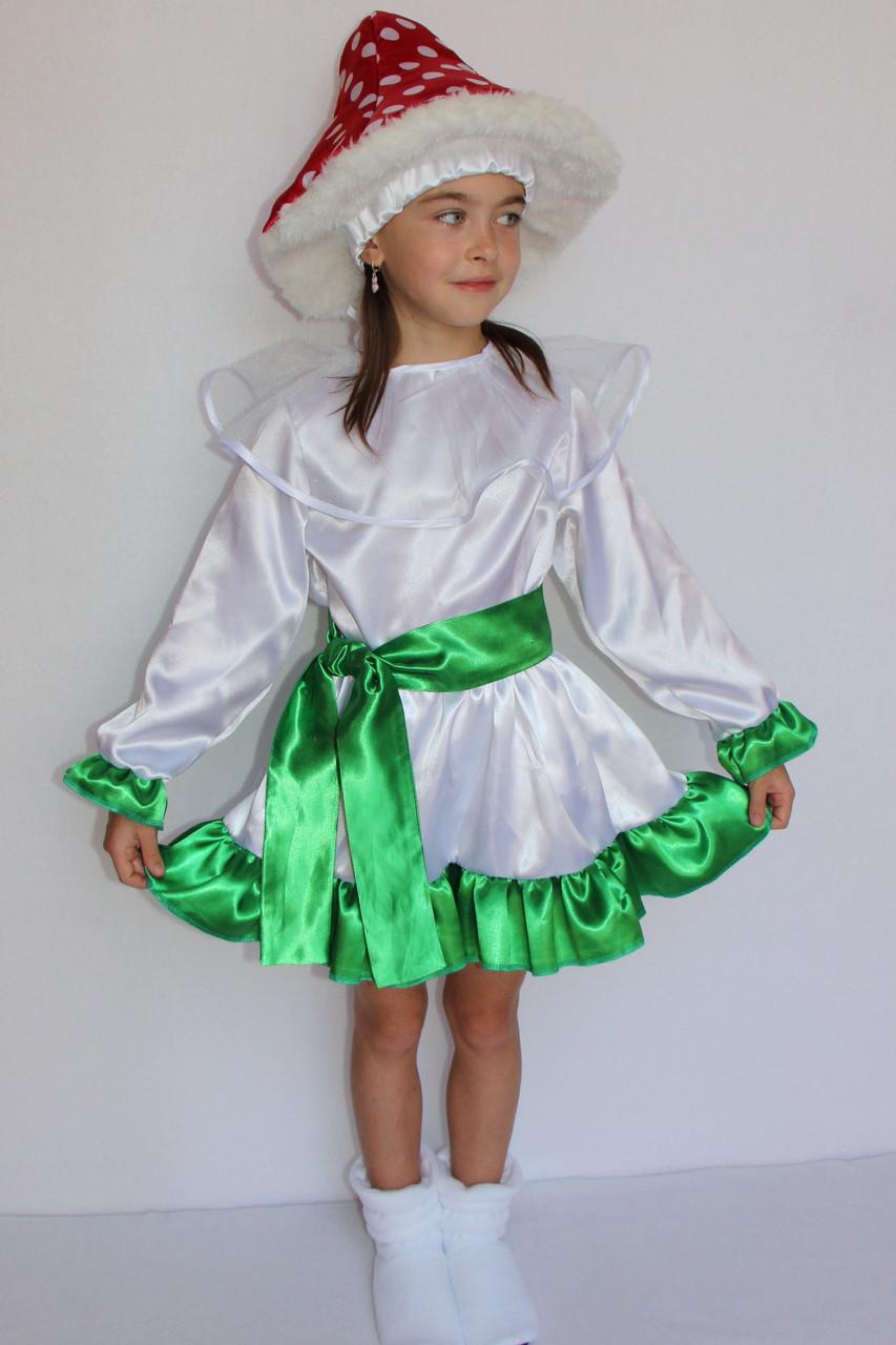 Новогодний костюм для девочек  Гриб Мухомор