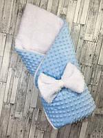 Конверт-одеяло на выписку Минки 100х80, весна--осень-зима