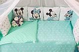 Комплект детского постельного белья  в кроватку  с бортиками  Единорог, фото 6