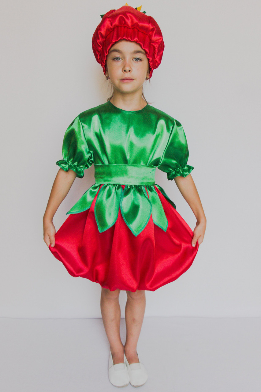 Карнавальный костюм  для девочки Помидорка