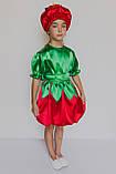 Карнавальный костюм  для девочки Помидорка, фото 2