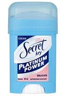 """Кремовый антиперспирант Secret """"Platinum Power Delicate"""" (40мл.)"""