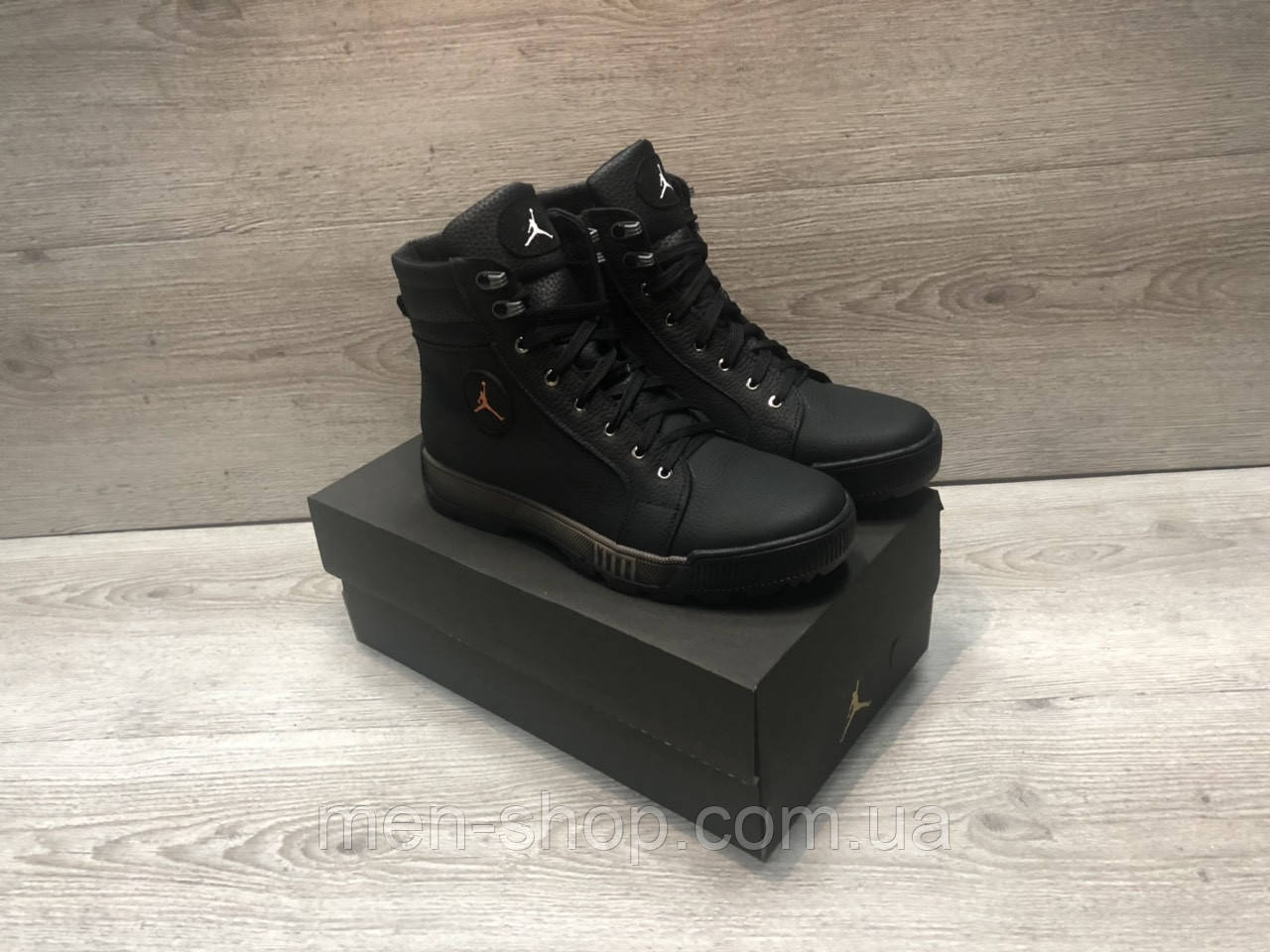 526f49c3 Кожаные ботинки в стиле Jordan на меху , цена 1 750 грн., купить в Харькове  — Prom.ua (ID#875050268)