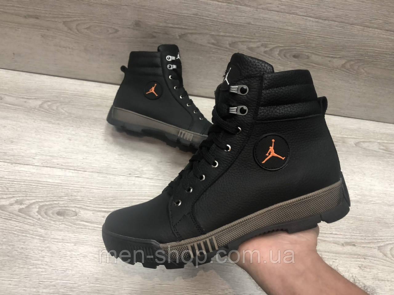 843ff6d1 Кожаные ботинки в стиле Jordan на меху : продажа, цена в Харькове ...