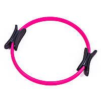 Эспандер кольцо для пилатеса Sporthouse D=38cm розовый