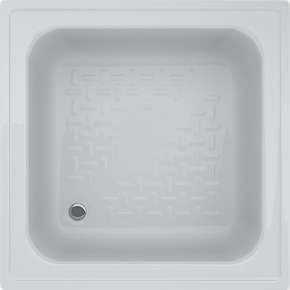 Душевой глубокий квадратный акриловый поддон Swan Martin 80х80х30 см, фото 2