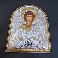 Икона серебряная с позолотой Ангел Хранитель на деревянной основе Silver Axion (Греция)
