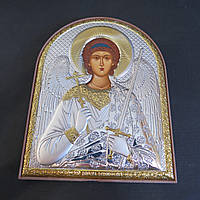 Икона серебрянаяс позолотойАнгел Хранительна деревянной основе Silver Axion (Греция)