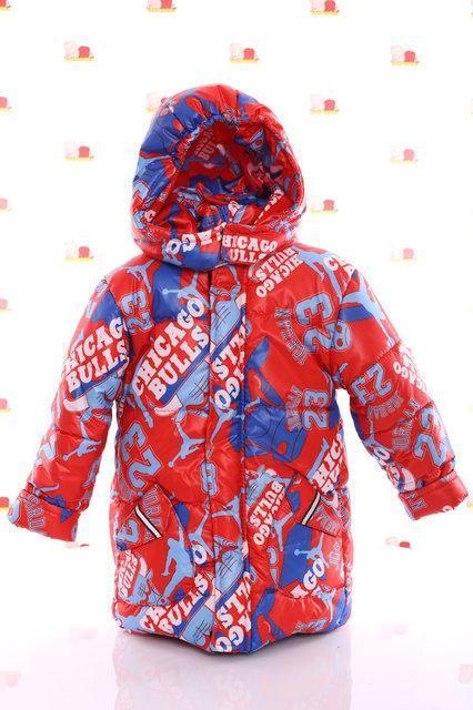 Демисезонная красная  куртка  для мальчиков