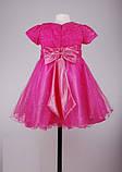 Ярко розовое платье  на утренник для девочек, фото 6