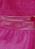 Ярко розовое платье  на утренник для девочек, фото 9
