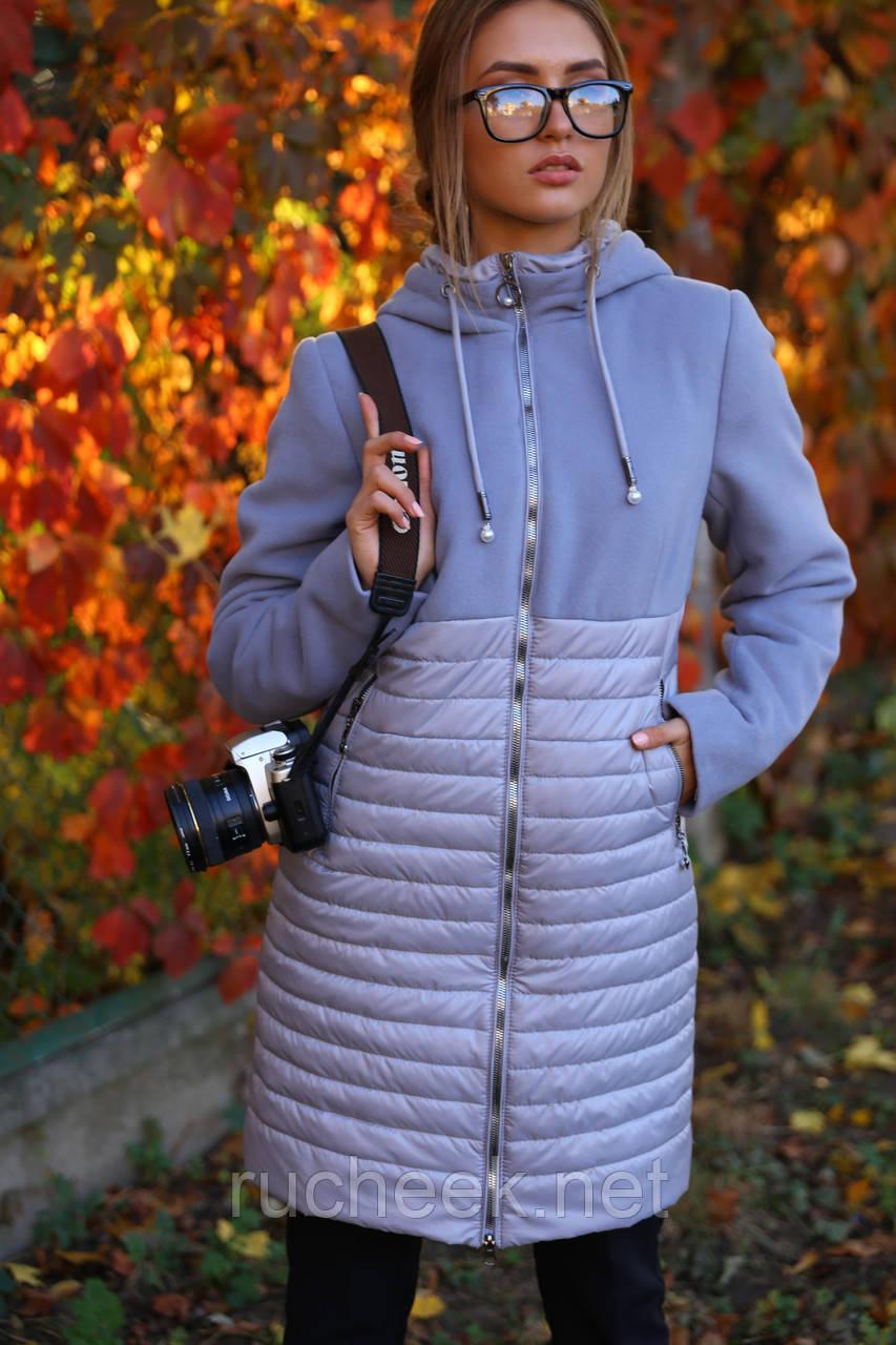 Весенняя удлиненная куртка Агния р-ры 42 - 54, ТМ Nui Very, Украина