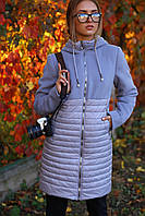 Весенняя удлиненная куртка Агния р-ры 42 - 54, ТМ Nui Very, Украина, фото 1