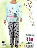 Пижама подростковая со штанами в горошек Nicoletta
