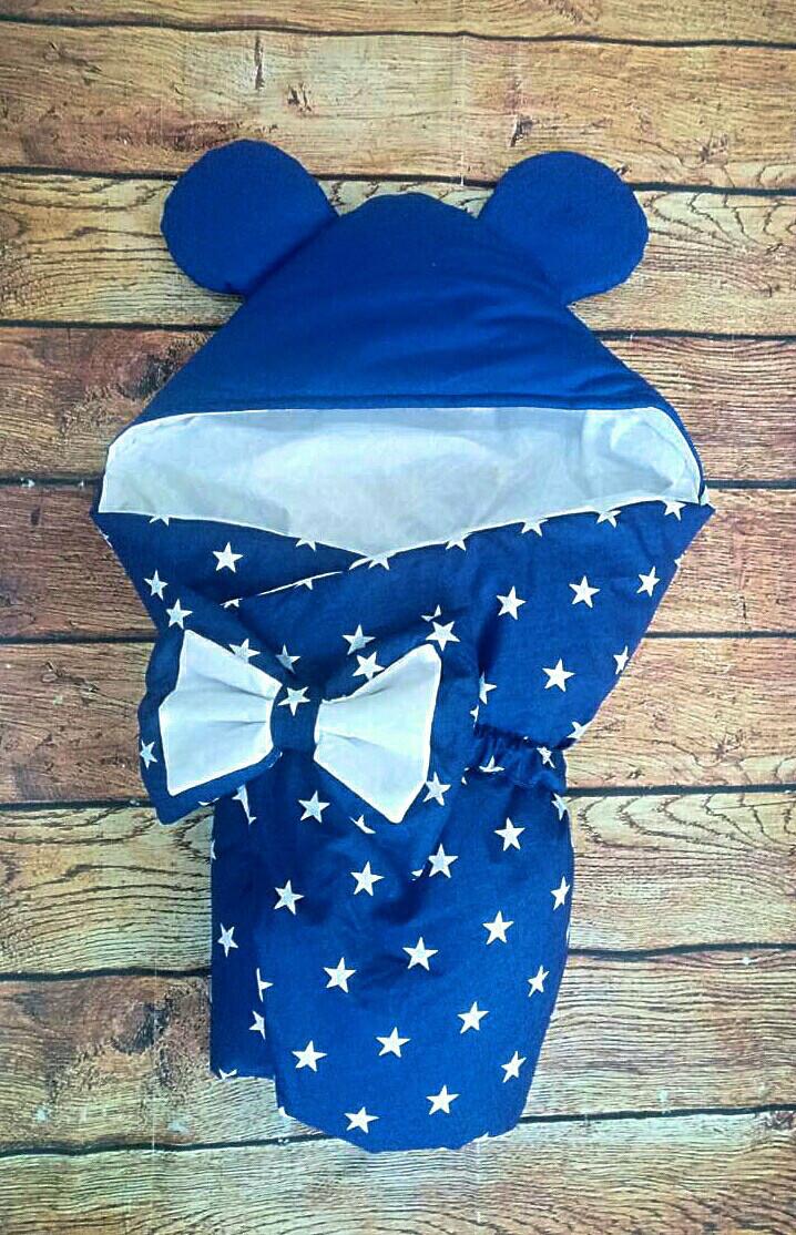 Конверт-одеяло на выписку Микки Маус 78х78см