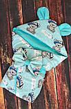 Конверт-одеяло на выписку Микки Маус 78х78см, фото 5