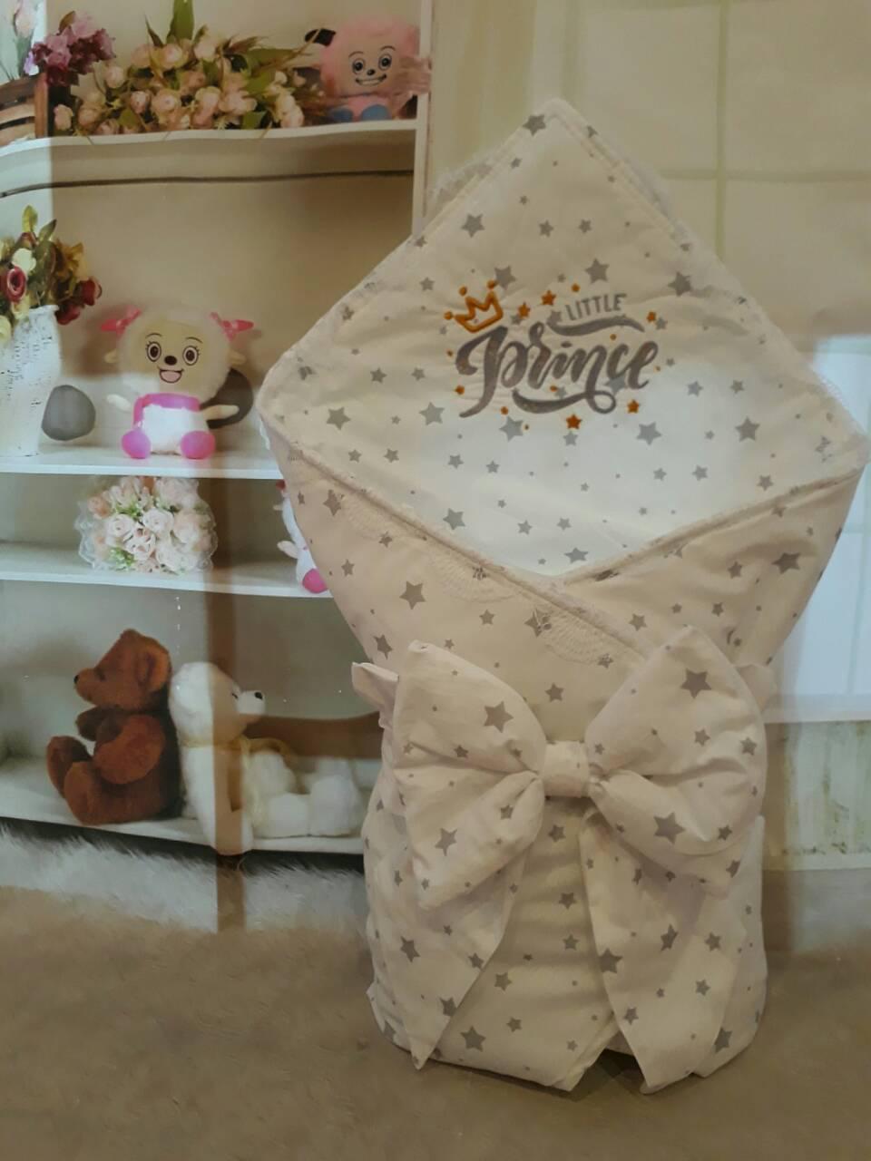 """Конверт-одеяло для новорожденного Маленький принц"""", хлопок 78*78 см"""