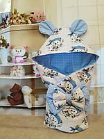 """Конверт на выписку """"Мишки"""", конверт- одеяло для новорожденного весна/осень, фото 1"""