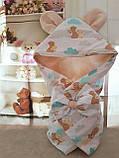 Конверт-одеяло на выписку и для прогулок 78х78см, фото 7