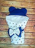 Конверт-одеяло на выписку и для прогулок 78х78см, фото 8