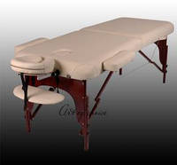 Массажный стол BAS складной двухсекционный деревянный, массажный стол BAS премиум класса ART OF CHOICE