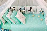 Комплект детского постельного белья в кроватку Микки  с бортиками, фото 2