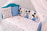 Комплект детского постельного белья в кроватку Микки  с бортиками, фото 4