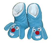 Детские  тапочки сапожки из флиса Кролик