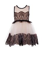 Детское  платье с фатиновой юбкой  и кружевом, фото 1