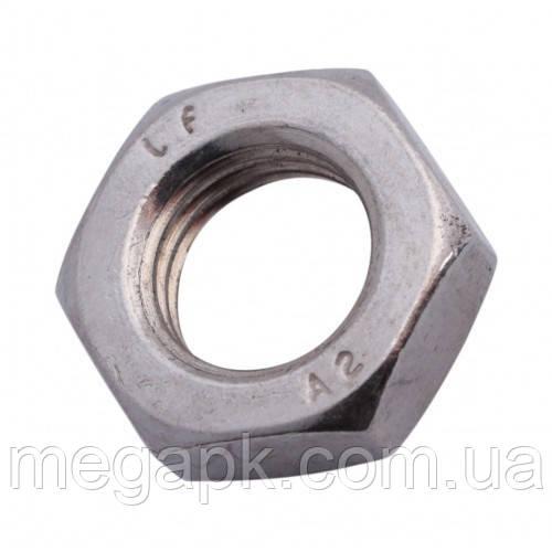 Гайка шестигранная нержавеющая низкая М18 DIN 439, сталь А2