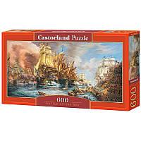 "Пазлы  600 ""Битва на море""   Castorland"