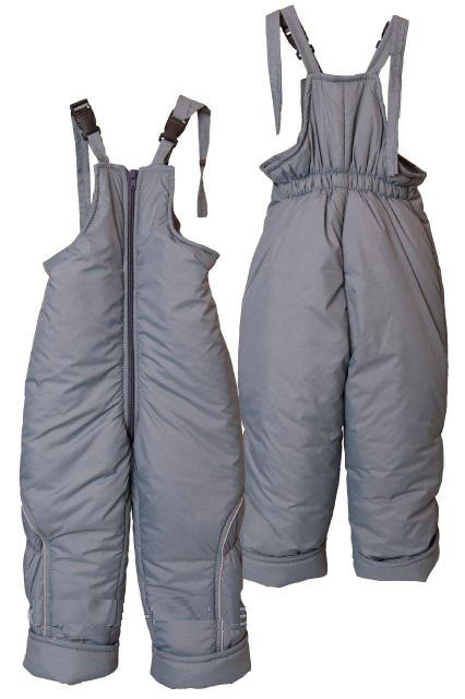 Детские зимние  теплые штаны на бретелях